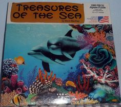 Great American Puzzle TREASURES OF THE SEA by Mark MacKay 1000 pieces 20 X 27 E7 #GreatAmericanPuzzleFactory
