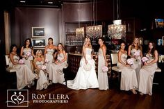 Like- sitting & standing mix bridal party photo