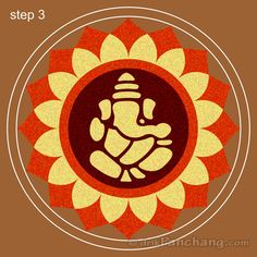 Pookalam Rangoli Step 3