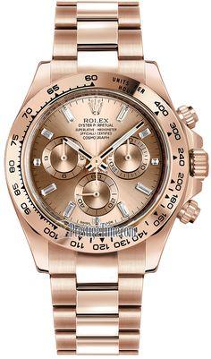 Rolex Cosmograph Daytona Everose Gold 116505 Pink Baguette Index