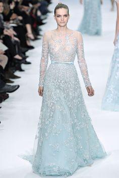 Elie Saab Alta Moda Primavera-Estate 2012 / Parigi... sky-blue angel dress (Sleeping Beauty in blue?)