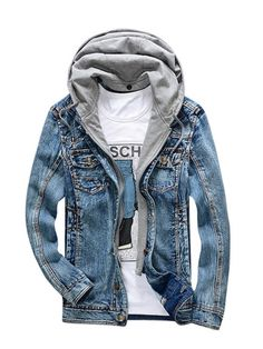 Yying Kids Denim Jacket Boys Jean Coat Fashion Casual Girls Cardigan Children Toddler Hooded Outerwear Ripped Hole Cowboy Outwear Trench Coat