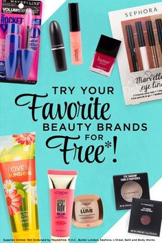 ★★Who doesn't love free beauty products?★★ Try cult favorites from top cosmetic brands for FREE. It couldn't be easier either. Choose the products you want most and save 100% on samples from M.A.C. and more.