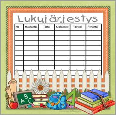 Lapset - Kids: luku-05-web Creative Teaching, Teaching Tips, Home Command Center, Daily Planner Printable, Teacher Inspiration, Childhood Education, Book Crafts, Primary School, Classroom Organization