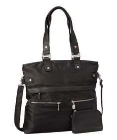 Onyx Elena Convertible Tote by baggallini #zulily #zulilyfinds