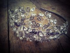 Headdress made from diamanté stones and tiny glass Miyuki Delica seed beads. This would look lovely with a 1920's style dress www.vintagebuttonbridaldesigns.co.uk