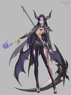 Lilith, YOONART (Yoonju Cho) on ArtStation at https://www.artstation.com/artwork/veN5D