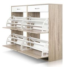 4 Part Shoe Cabinet Tower by Dwell Home. Get it now or find more Shoe Cabinets at Temple & Webster. Shoe Cabinet Design, Shoe Storage Design, Entryway Shoe Storage, Closet Shoe Storage, Shoe Storage Cabinet, Modern Tv Room, Craftsman Style Kitchens, Shoe Cupboard, Wooden Shoe Racks