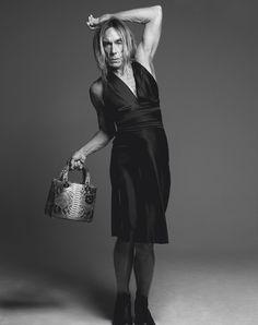 Yeahhhh !!! Sac Lady Dior As Seen by Mikael Jansson, au bras d'Iggy Pop