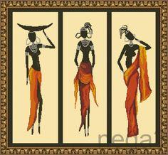(2) Gallery.ru / триптих. Африка - Схемки для детей и начинающих вышивальщиц - Nega3