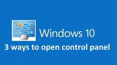 Here's easy 3 ways to open control panel in windows How to Access the Old Control Panel in Windows Three Ways To Start The Control Panel In Windows This tutorial will show you how to open the Control Panel in Windows 10 Windows 10 Tutorials, Control Panel, Geek Stuff, Technology, Beads, Tips, Geek Things, Tech, Beading