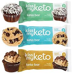 Amazon.com : Kiss My Keto Bars - Low Carb (3g Net), Low Sugar Keto Snack Bars | Chocolate Variety Pack, 12 Pack | Rich in Ketogenic Fats  Protein : Grocery  Gourmet Food Gourmet Recipes, Keto Recipes, Dessert Recipes, Low Carb Protein Bars, Keto Bars, Starting Keto, Snack Bar, Keto Meal Plan, Low Sugar