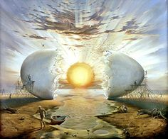 """Sunrise by the Ocean"" by Vladimir Kush  So very Dali-esque, this one…"