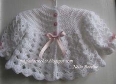 Magia do Crochet: Crochet e tricot para o bebé...este blog tiene este y otros tutoriales