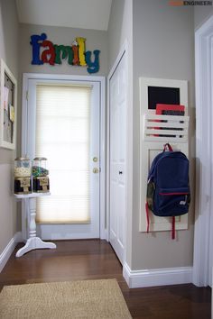 Keep your kids' school gear organized with this DIY Wall Locker you can DIY with a tutorial from Rogue Engineer. Diy Wand, Wood Home Decor, Diy Home Decor, Small Bathroom Organization, Organization Ideas, Pottery Barn Inspired, Old Doors, Cool Diy Projects, Inspired Homes