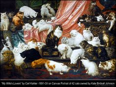My Wife's Lovers cat painting carl Kahler
