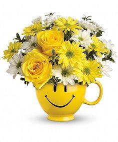 Be Happy Bouquet #kittelbergerflorist