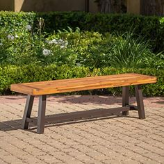 Shop for Caribbean Outdoor Acacia Wood Balcony Bar Set by Christopher Knight Home. Get free delivery On EVERYTHING* Overstock - Your Online Garden & Patio Shop! Rustic Outdoor Furniture, Outdoor Garden Bench, Rustic Bench, Outdoor Dining Set, Outdoor Decor, Outdoor Benches, Modern Furniture, Patio, Furniture Ideas