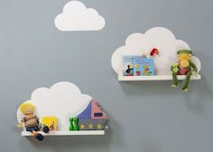 With a few simple steps you can turn simple Ikea furniture into great highlights for the children's room. We show you the best Ikea hacks for kids … Source by l_bennefeld Cloud Shelves, Ikea Shelves, White Shelves, Clouds Nursery, Nursery Wall Art, Baby Bedroom, Kids Bedroom, Chambre Nolan, Ikea Wall Decor