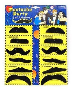 Mustache Stickers for Face – set of 12 for $1.15 shipped   Halloween Party Ideas