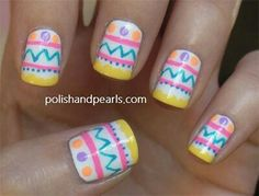 Add a fun and fanciful flair to your spring wardrobe with an Easter themed nail design. Let Peter Cottontail hop off the bunny trail and right onto your fingertips or maybe a springtime nest of baby chicks takes their place Easter Nail Designs, Easter Nail Art, Pink Nail Designs, Simple Nail Designs, Nails Design, Spring Nail Art, Spring Nails, Summer Nails, Chocolates