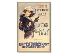 Gee Wish I Were A Man I'd Join US Navy WWI by AmericanYesteryear