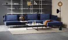 From the iconic Daybed to the grand Modular Sofa, all HANDVÄRK seating objects are meticulously designed in Denmark and characterized by aesthetic sustainability: a timeless object in a quality last a lifetime. Danish Furniture, Blue Furniture, Colorful Furniture, Furniture Design, Nordic Interior Design, Scandinavian Interior Design, Scandinavian Style, Grey Wall Decor, Blue Velvet Sofa
