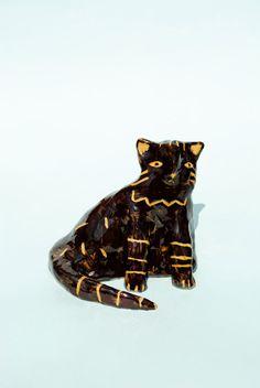 big cat - ceramic decoration