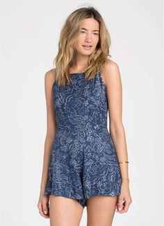 BILLABONG DARK BLOOM ROMPER  CLOTHING ROMPERS/JUMPSUITS