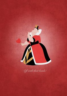 Alice in Wonderland inspired design (Queen of Hearts).