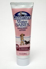 Coppertone Water Babies Sunscreen Lotion - SPF 50 (case of 24) by Coppertone. $38.00. Waterproof. Dermatologist tested. Gentle, non-irritating formula clinically tested to be non-stinging on baby's delicate skin. Hypoallergenic. Broad spectrum UVA/UVB protection, with Avobenzone. Coppertone Water Babies Sunblock Lotion Spf 50 is the number one pediatrician recommended brand of gentle, non-irritating formula clinically tested sunblock to be non-stinging on baby's delicate skin.