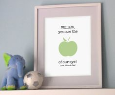My Sweet Prints Apple of our eye Print here at ministyle Bedtime, Neutral, Positivity, Apple, Eyes, Handmade Gifts, Prints, Nursery Ideas, Sweet