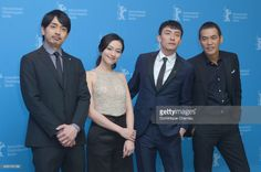 Actors Sho Aoyagi, Yeo Yi Ti, Chang Chen and film director and screenwriter Sabu (Hiroyuki Tanaka) attend the 'Mr. Long' photo call during the 67th Berlinale International Film Festival Berlin at Grand Hyatt Hotel on February 13, 2017 in Berlin, Germany.