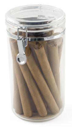 Shop Now Acrylic Cigar Jar Humidor - 25 Cigars Count | Cuenca Cigars  Sales Price:  $10.12