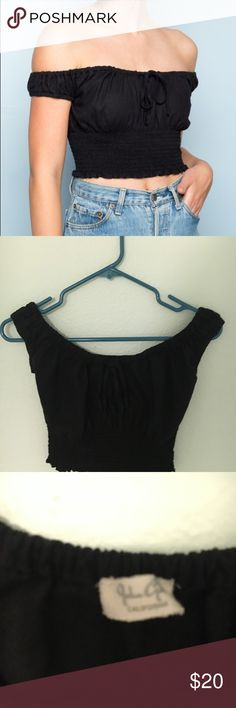 Brandy Melville Black Marilyn Top BNWOT Brand new, never worn, just got it a week ago, it's not really my style. I only trade for other Brandy. Brandy Melville Tops Crop Tops