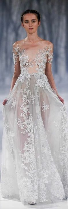 TD ❤️ Paolo Sebastian 2016 A W Couture - The Snow Maiden