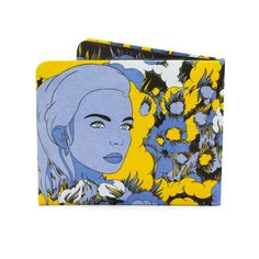 Paper-Thin Wallet Unisex for Men & Women - Yellow Blue Design by Dreams of Grandeur (UK) - Made in Tyvek - Eco-friendly and 100% Recyclable