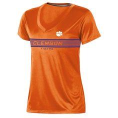 6e0252875 Clemson Tigers Women s Short Sleeve V-Neck Performance T-Shirt - M Color