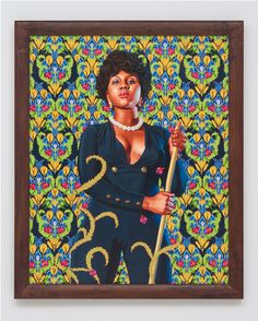 Portrait of Anne Cynthia Petit Vil , 2014 Oil on linen 60 x 48 inches Kehinde Wiley