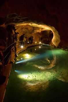 Underground Jenolan Caves in Blue Mountains, New South Wales Australia