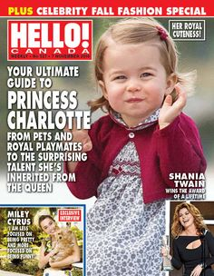 "British Royals on Twitter: ""Princess Charlotte makes her first solo cover! @HelloCanada"