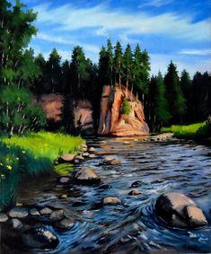 View: The forest river | Artfinder