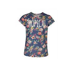 WE Fashion T-shirt, Blauw/Rood/Groen