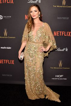 Georgina Chapman in Marchesa Spring 2016 - 2016 Golden Globes After-Party - January 10, 2016