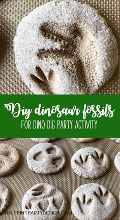 Got a little Paleontologist? Try a Dino dig for your next birthday party! These DIY Dinosaur fossils are fun to make and even better to find. Making salt dough dinosaur fossils with kids doesn't have to be complicated. It's the perfect dinosaur activity f Birthday Activities, Party Activities, Dinosaur Activities For Preschool, Camping Activities, Dinosaur Birthday Party, Boy Birthday Parties, 5th Birthday, Theme Parties, Birthday Wishes