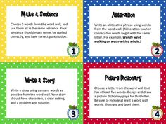 Word Wall for Big Kids (Grades 3-5) Task Cards to use with ANY word wall or word wall list. Great for literacy centers! From More Than a Worksheet $