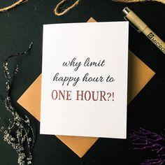 Happy Hour Card. Boss Appreciation. Boss Appreciation. Girls