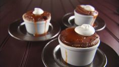 Try this recipe for Warm Chocolate Pudding Cakes with Caramel Sauce from PBS Food. Chocolate Pudding Cake, Chocolate Desserts, Yummy Treats, Delicious Desserts, Sweet Treats, Cake Recipes, Dessert Recipes, Frosting Recipes, Yummy Recipes