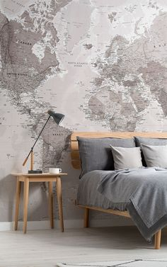Neutral World Map Wallpaper Mural MuralsWallpaper Neutral World Map Wallpaper Mural MuralsWallpaper Suse Cordes Save Images Suse Cordes Give your home a classic intriguing look by incorporating world map wallpaper Our range of world map murals feature World Map Mural, World Map Wallpaper, World Map Bedroom, World Map Design, Standard Wallpaper, Classic Interior, My New Room, Living Spaces, Living Room