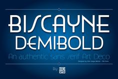 Biscayne DemiBold by JVB Digital Foundry on @Graphicsauthor